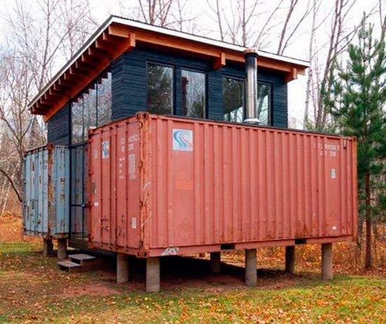 Дом контейнер своими руками