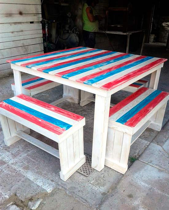 Шикарный обеденный стол паллетов