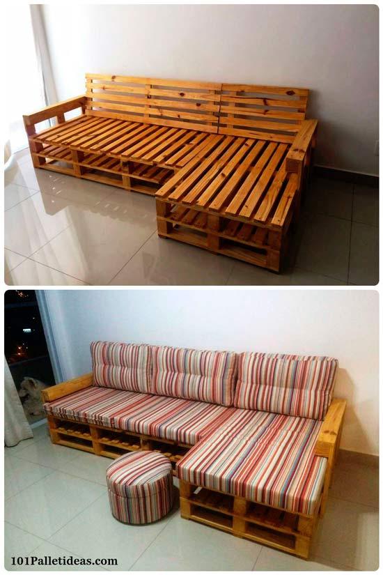 Г-образный диван для кухни