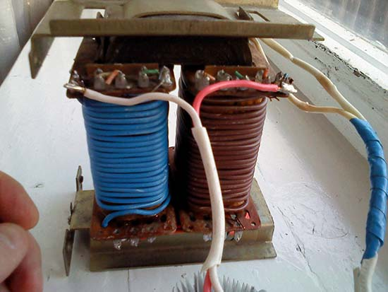Готовое зарядное устройство из трансформатора ТС-250