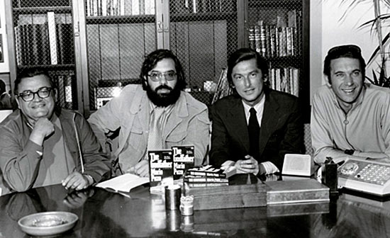 Mario Puzo, Coppola, Robert Evans, and Al Ruddy на пресс-конференции